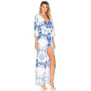 L+F Ashton Dress Temple Scarf Romper Maxi Long XS